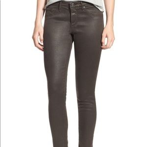 AG the Legging Jeans in Coated Leather